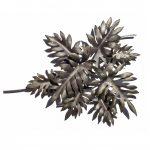 フィロデンドロン、タンゴの葉をモチーフに、重なり合い動きを感じさせる鉄のウォールアートアート(壁面彫刻)に仕立てました。