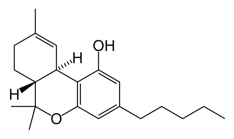 Molécula THC