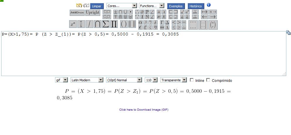 Gere equações matemática para apresentações
