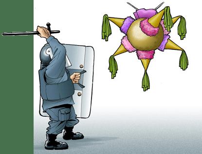 Derechos de Autor + Represión + Piñata