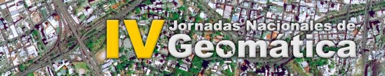 V Jornadas Nacionales de Geomática