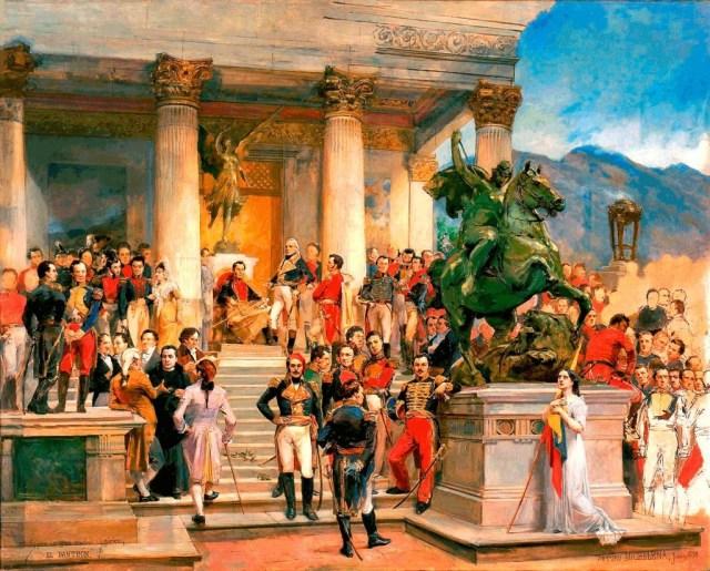 Obra Arturo Michelena - El Panteón de los Héroes - 1898