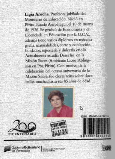 Libro El Diario de Lorenza Parucho por Ligia Arocha