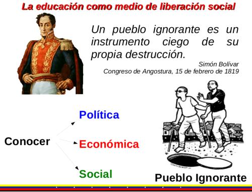Educación como medio de liberación