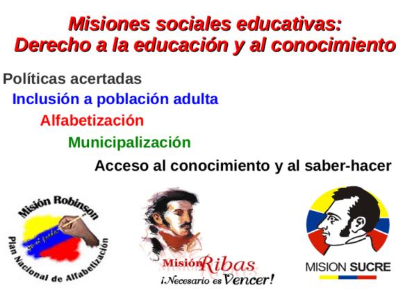 Misiones Sociales Educativas Venezuela