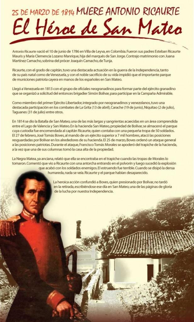 Antonio Ricaurte y la Batalla de San Mateo