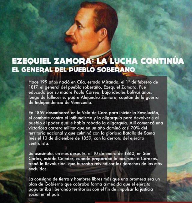 Natalicio ezequiel Zamora