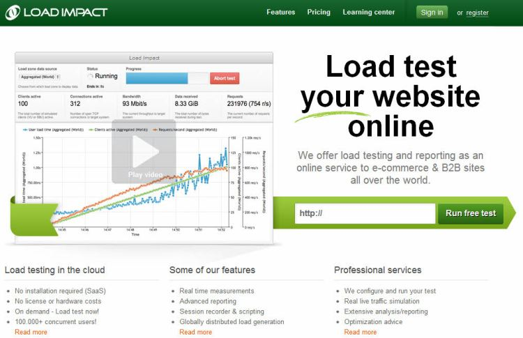 load-impact-web-hosting-tool