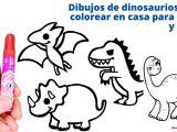 dibujos colorear dinosaurios