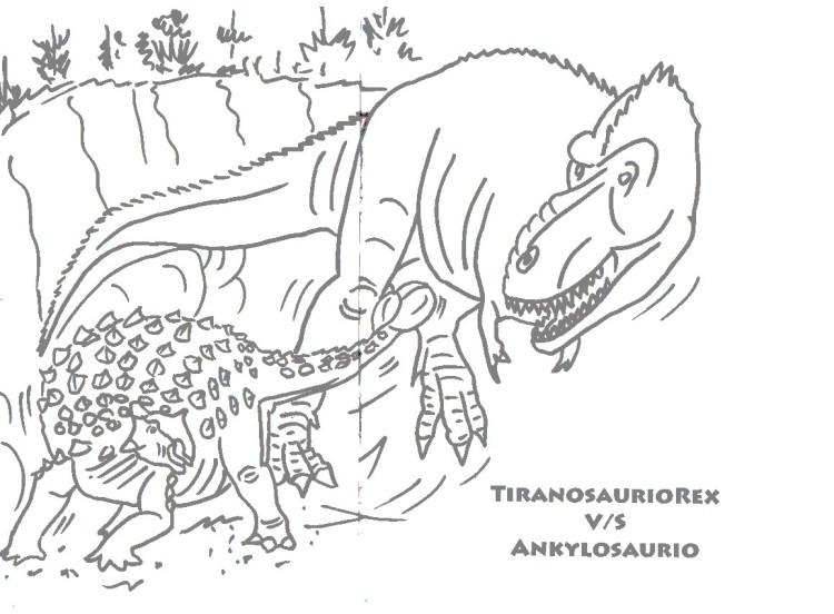 Descarga gratis formatos y dibujos de dinosaurios para colorear en casa para niños y niñas.
