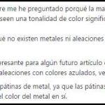 Respuestas (LXXII): ¿Por qué casi todos los metales son grises?