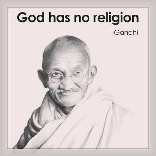 Gandhi - Religião e Yoga são coisas diferentes