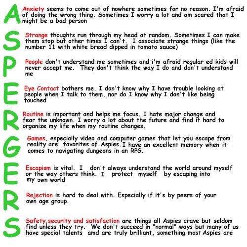 Meu universo particular conhecendo a sndrome de asperger formas de manifestao asperger 1 a trade sintomtica fandeluxe Images