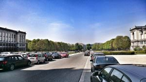 Parc de Cinquantenaire - widok na miasto