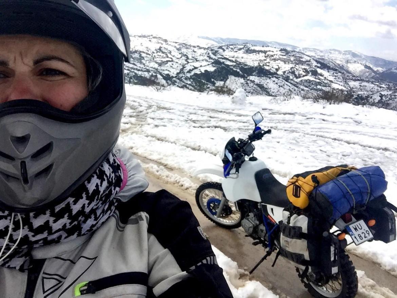 Maja Sontag i jej motocykl