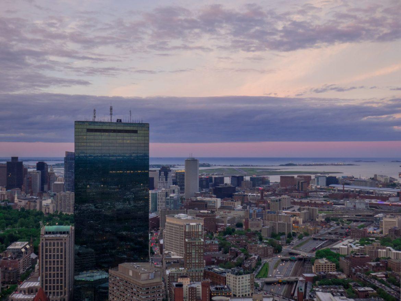 Boston po zachodzie słońca