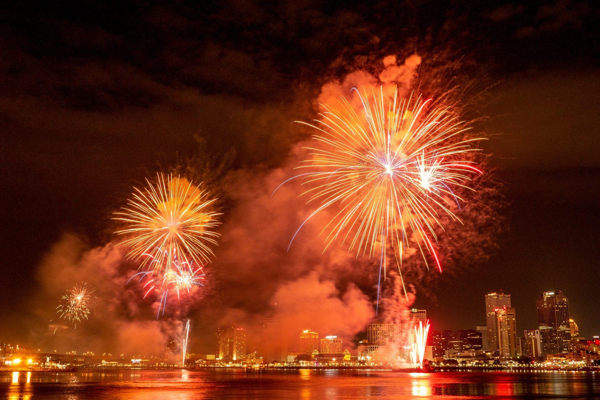 Pokaz fajerwerków z okazji 4 lipca, Nowy Orlean