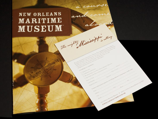 New Orleans Maritime Museum Identity and Promotional Package