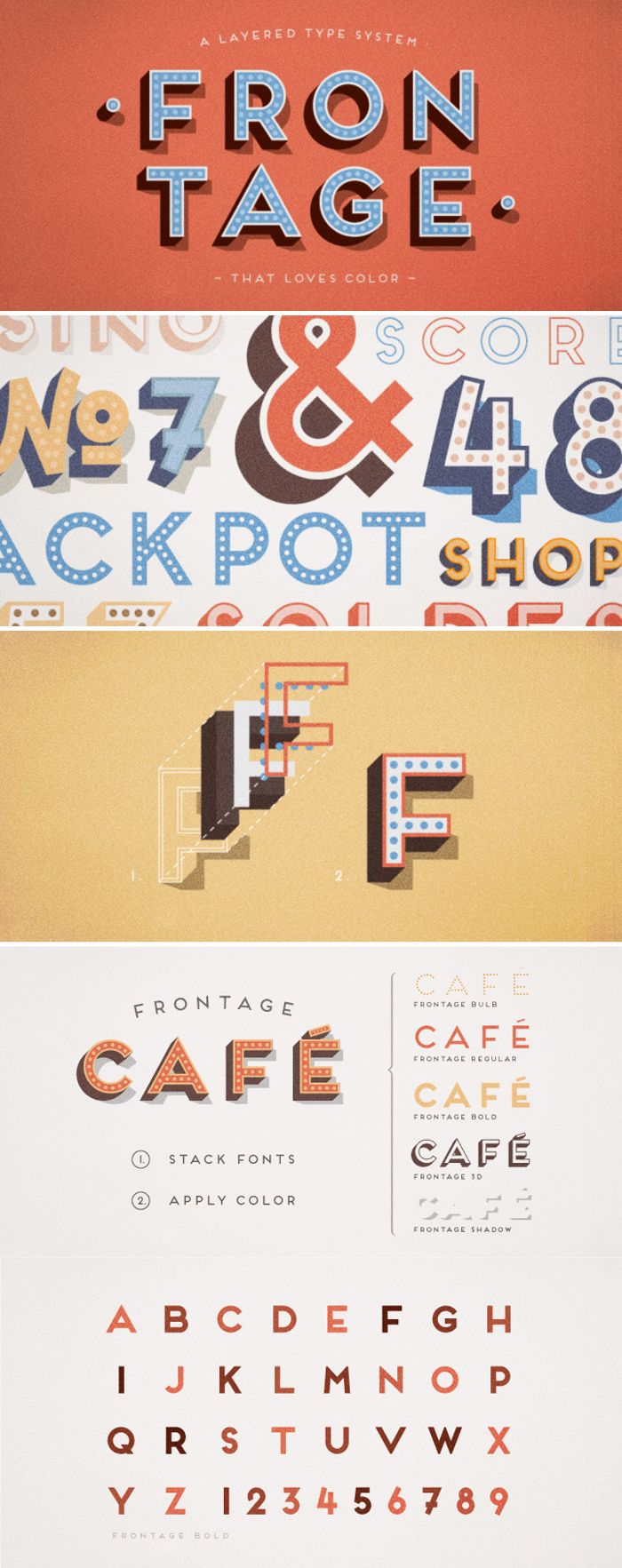 Frontage Font Type Specimens and Design