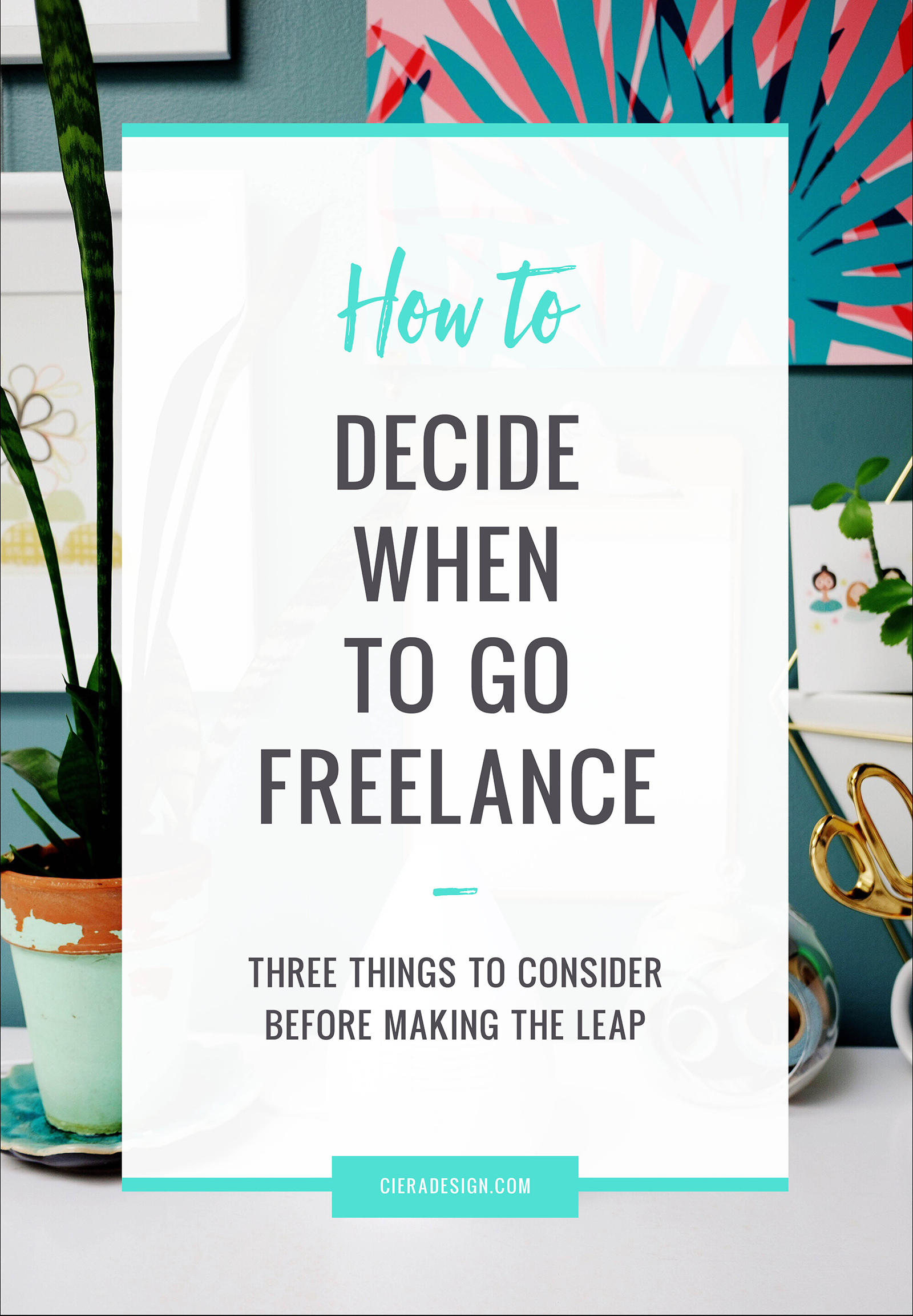 Have you been dangling on the fence about whether to leave your full-time design job to go freelance? Consider these three things before making the leap.