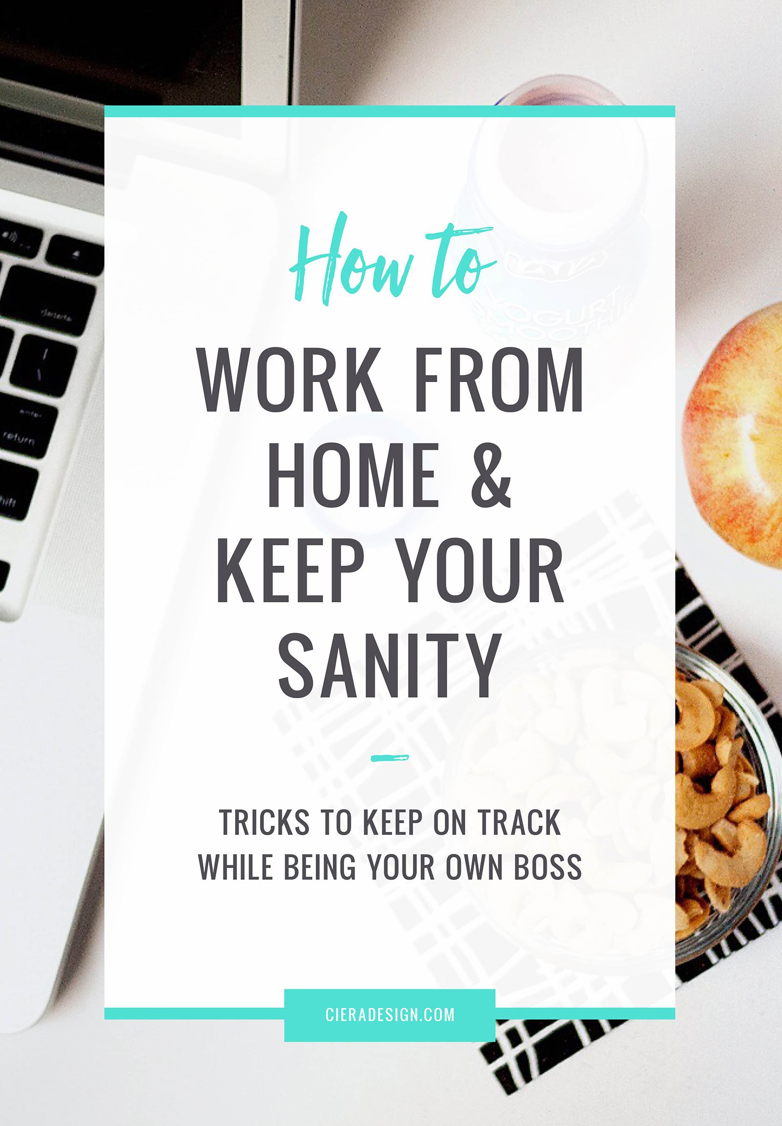 Tricks to keep on track while being your own boss and working from home.