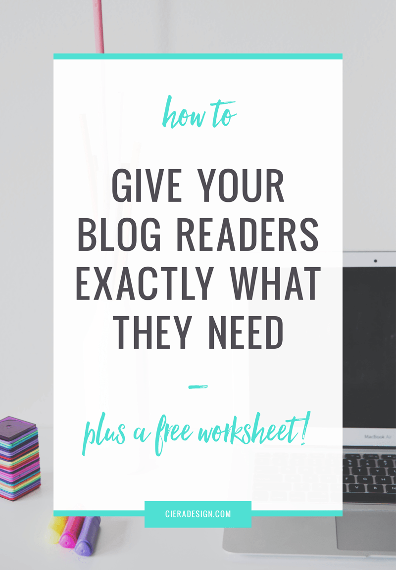 We're all looking for better ways to connect with our readers in hopes that they come back and read your blog on a regular basis or buy something from you at some point, right? Lucky for us, there's a trick to giving them exactly what they're looking for. Click through for the two-step process and a free worksheet!