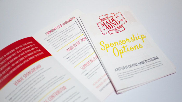 The Made In Mind Social Sponsor Brochures by CieraDesign.com 2