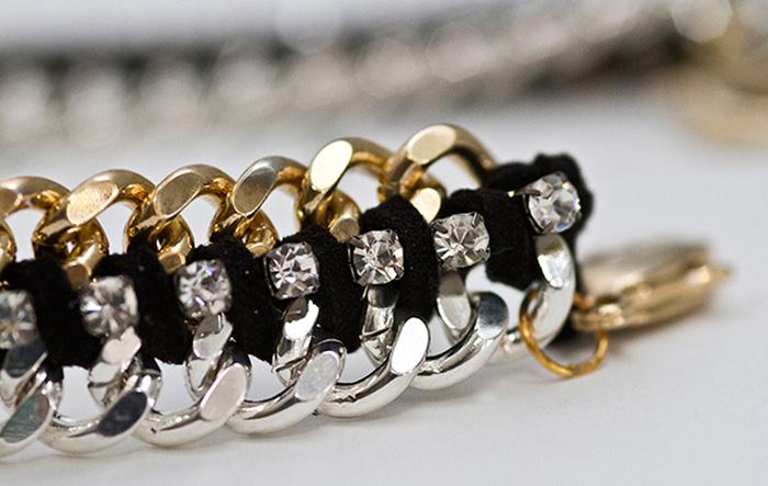 Chain Rhinestone Bracelet DIY