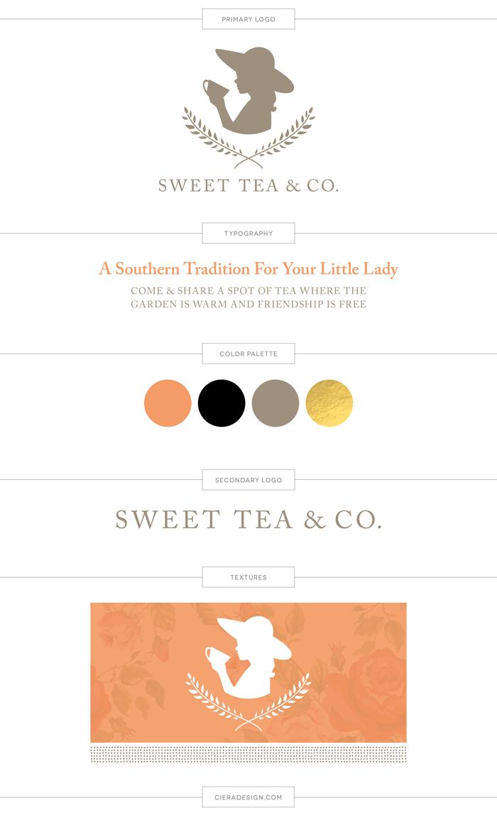 Sweet Tea Brand Board