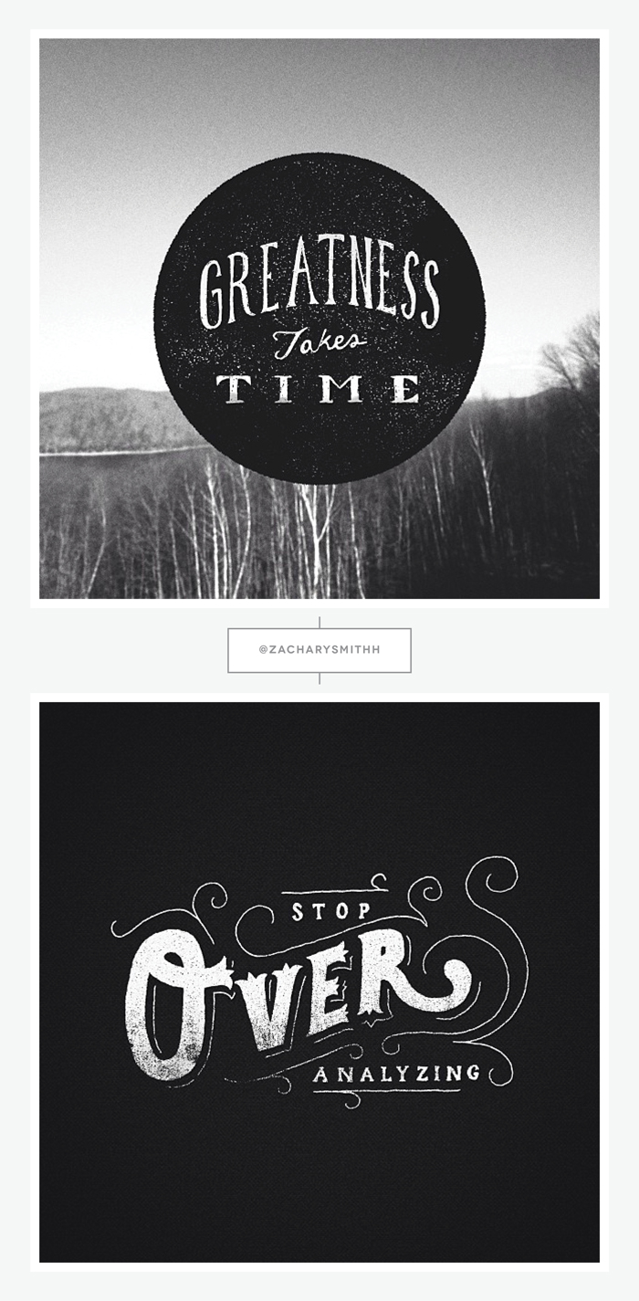 Hand Lettered Designs by Zachary Smith