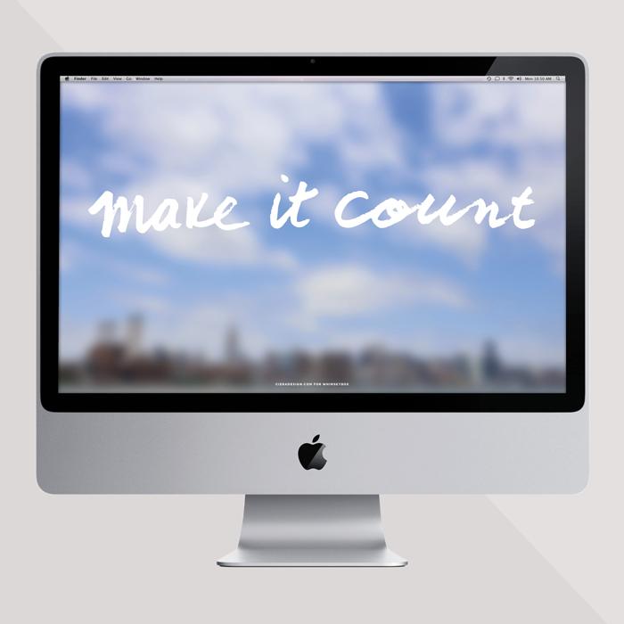 Make It Count Wallpaper by Ciera Design