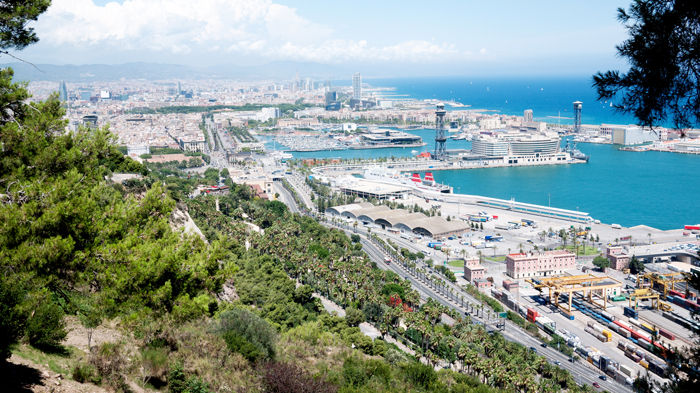 Barcelona-Spain-From-Above
