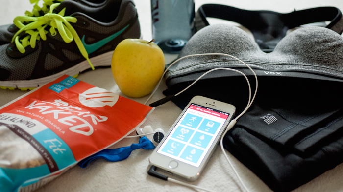 healthy food, new fitness gear and iphone app