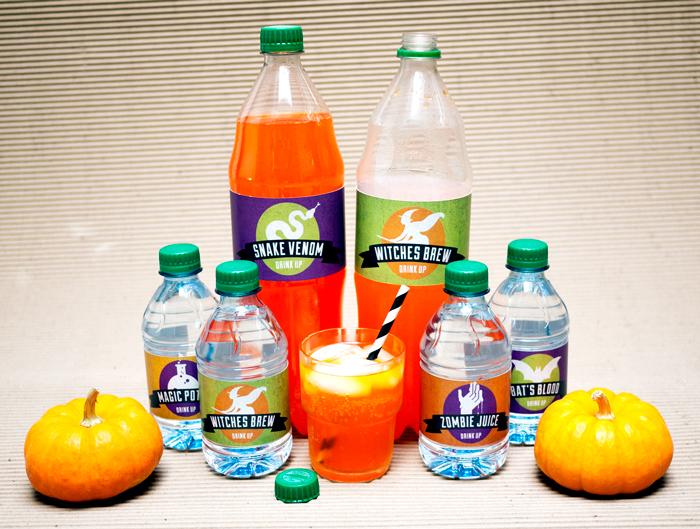 Halloween Water & Soda Bottle Printables