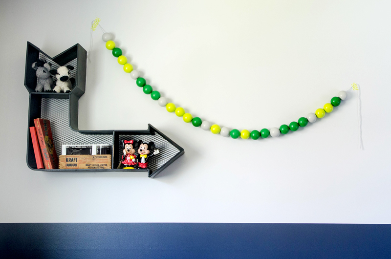 DIY Message Garland For Childs Nursery