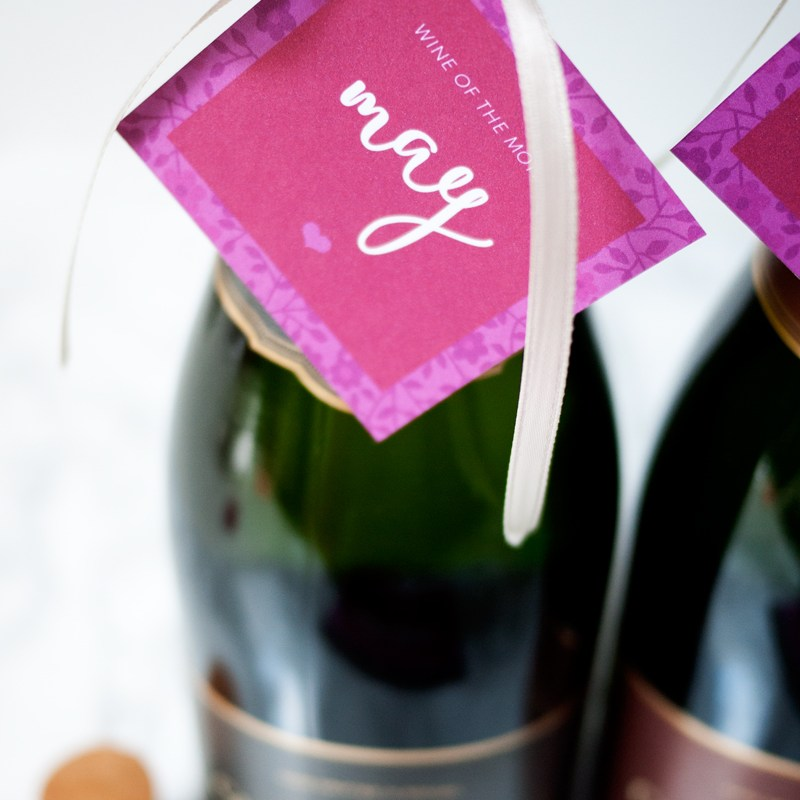DIY Wine of the Month & Free Printable