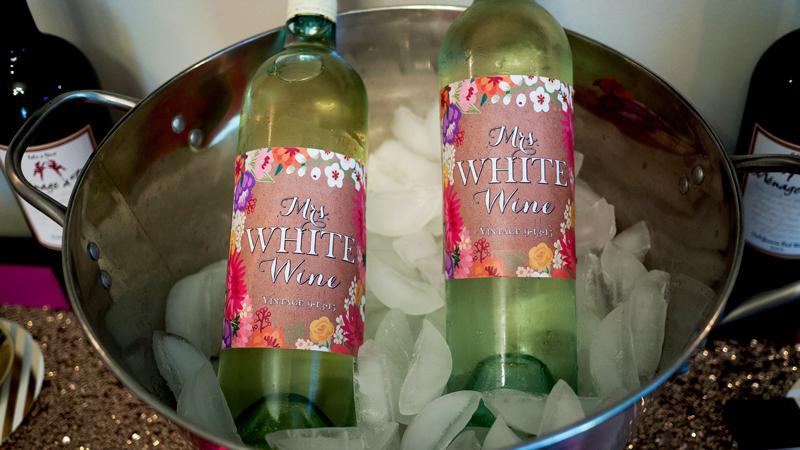 Custom Floral Wine Labels