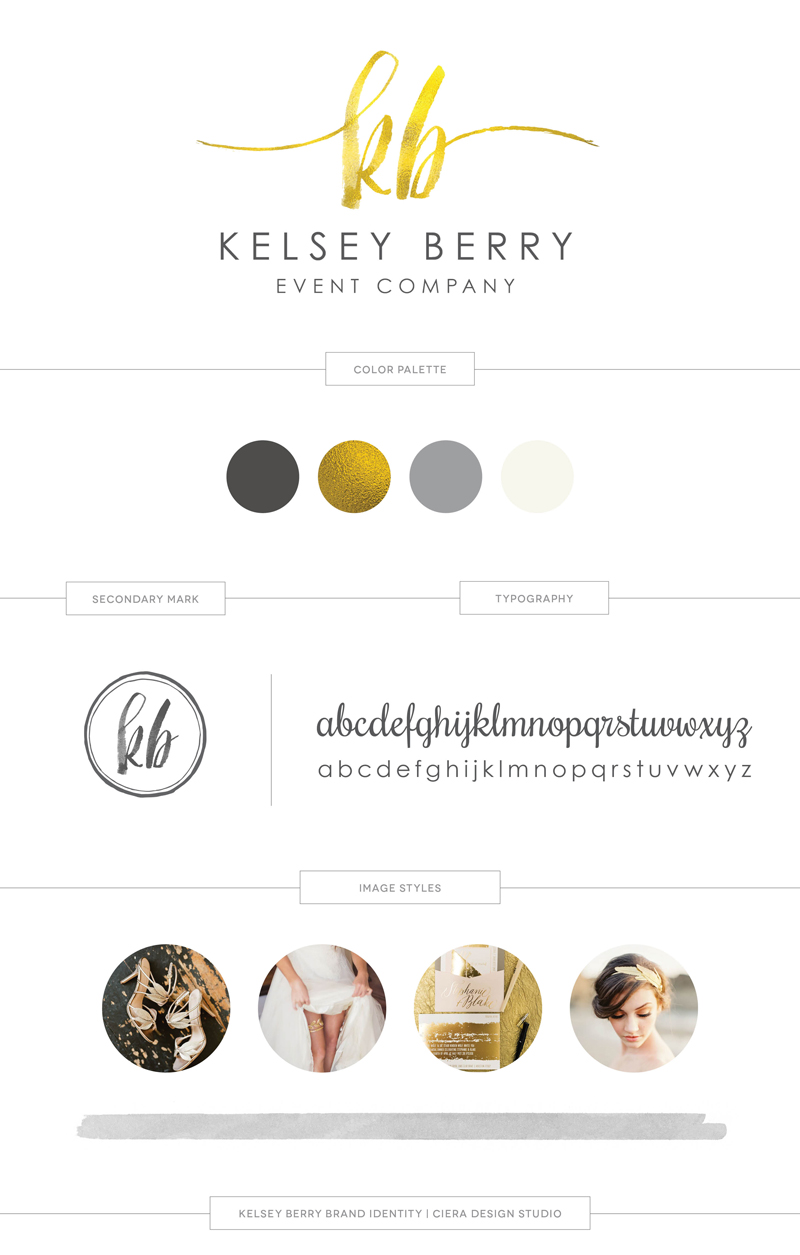 Kelsey Berry Event Company Brand Identity Logo Design