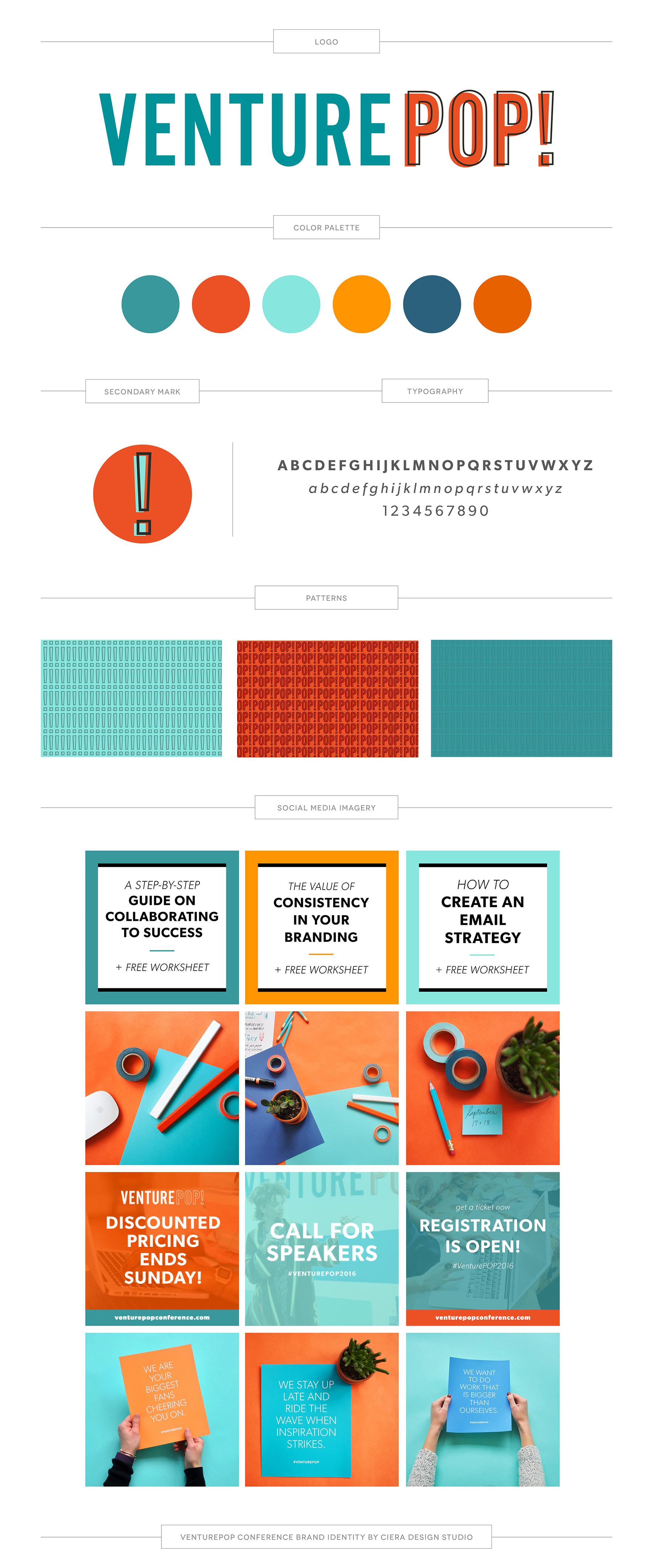Brand Identity Design Creative Entrepreneur Conference