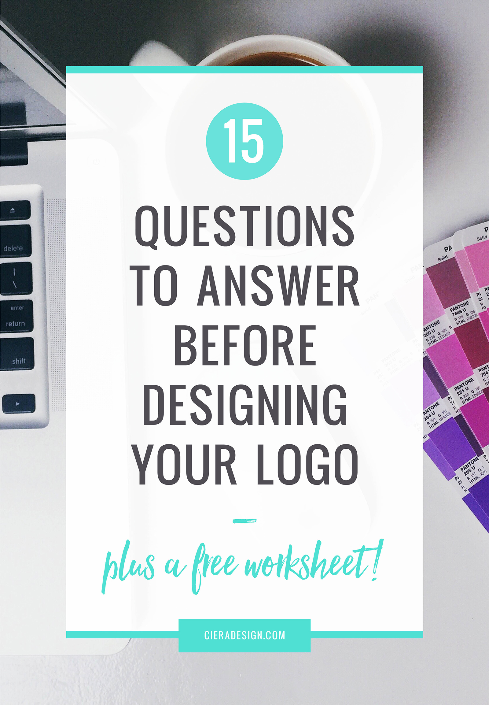 Questions You Must Answer Before Starting Your Logo Design - If you want to start answering these questions for your own company, simply download the free worksheet + get 5 bonus questions.