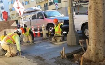 Public Works Sidewalk repair banner