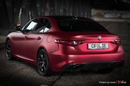 Alfa Romeo Giulia -Cherry Red - CiFol-Werbetechnik 14