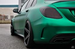 C63 AMG - British racing green - CiFol-Werbetechnik (06)