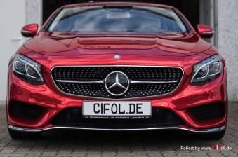 MB S500 Cabrio - Super Chrome Red Gloss - CiFol-Werbetechnik (3)