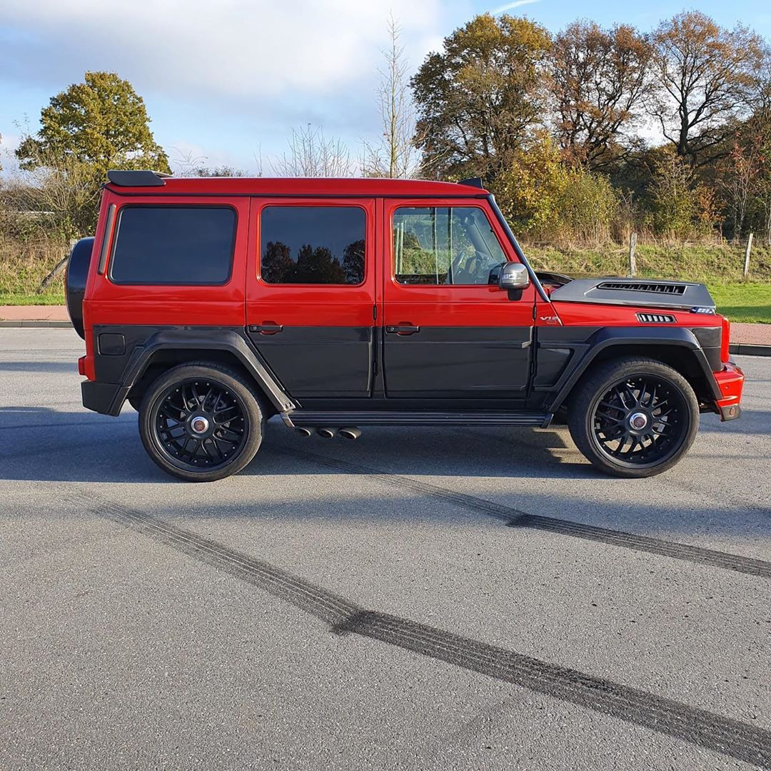 G63 Brabus in Ruby Red