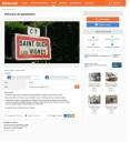 Mise en vente des panneaux d'entrée dans le village