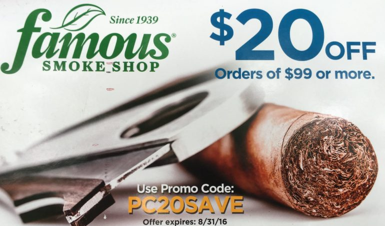 famous smoke shop coupon