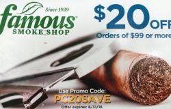 famous smoke shop coupon