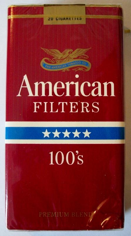American Filters 100's - vintage American Cigarette Pack