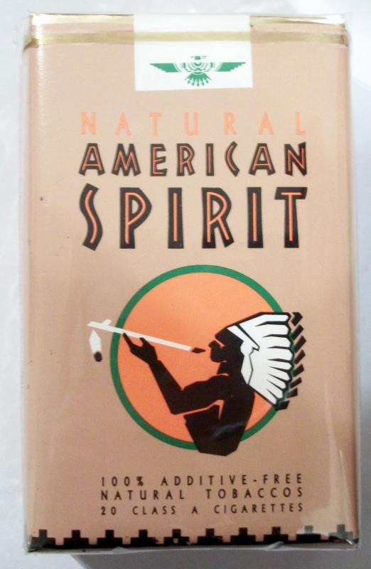 American Spirit: Natural - King Size, vintage American Cigarette Pack
